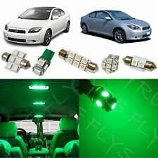 6x Green LED lights interior package kit for 2005-2007 Scion tC ST2G