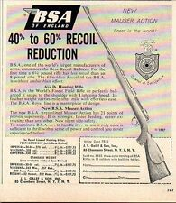 1957 Print Ad BSA of England British Small Arms Mauser Action Rifles