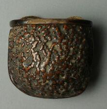 Antique, 19C, Japanese (Japan) Mingei-Burl-Wood Inro/Netsuke - Thick Patina