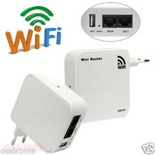Router WiFi Booster 150Mbps Inalámbrico AP Range Repetidor WLAN 802. 11b/g/n EU