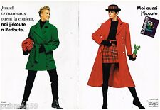 Publicité Advertising 1992 (2 pages) Le Catalogue La Redoute