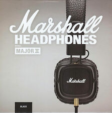 Marshall Major II Black With Microphone & Remote On-Ear Pro Stereo Headphone