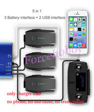 5in1 Multi Battery Charging Hub Intelligent Battery Charger for RC DJI Mavic Pro
