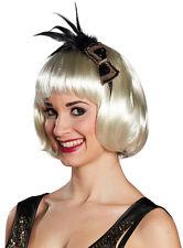 20er Jahre Haarreif mit Schleife und Federn NEU - Karneval Fasching Hut Mütze Ko