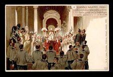 antica cartolina ANNO SANTO 1900-APERTURA PORTA SANTA S.PIETRO LEONE XIII PAPA