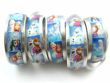 15pcs Frozen Anna and Elsa stainless steel band rings free shipping