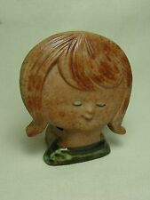 Pottery Votive Candle Holder Little Girl Figurine Ceramic Porcelain Night Light
