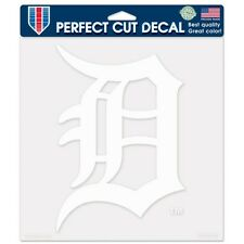 Detroit Tigers Car Window Decal 8 Perfect Cut Decal White
