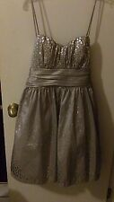 Junior's silver special occasion dress by WindsorStore.com size 9/10 NWT formal