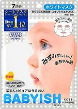 KOSE - Babyish Face Mask Clear Turn White Mask 7sheets F/S from JAPAN