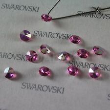 24 pieces Swarovski Elements 6200 6mm Faceted Rivoli Round Pendant - Pick Colors