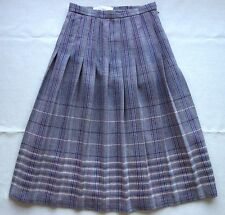 Vintage Dunedin Edinburgh Woollen Mill Pleated Tartan Skirt Kilt Pure Wool
