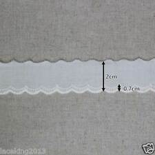 """14Yds Broderie Anglaise cotton eyelet lace trim 2cm(0.8"""") YH1351 laceking2013"""