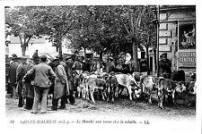 37 SAINTE-MAURE-DE-TOURAINE PHOTO MARCHé REPRODUCTION CARTE POSTALE 1981