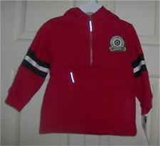CARTER'S Jacket 18 Months Red Hooded Anorak Sweat Zip Pocket Cotton Long Sleeve
