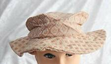 Handmade material pink hat with floppy brim fashion one sized worn once