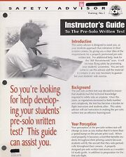 Instructor's Guide to the Pre-Solo Written Test (AOPA Air Safety) 1998