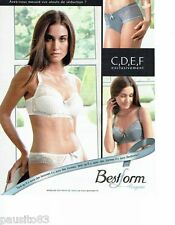 PUBLICITE ADVERTISING 116  2010   Bestform  soutien gorge sous vetements