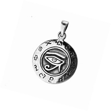 EXD Egyptian Udjat Eye of Ra Horus Amulet 925 Sterling Silver Pendant Jewelry
