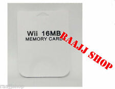 NEW 16MB MEMORY CARD FOR NINTENDO WII GAMECUBE UK SELLER