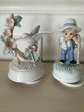 Set Of Two Musical Figurines About Seven And A Half Inches Tall