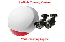 Dummy Home Security Kit Alarm Siren CCTV Cameras Surveillance IR LED Fake Office