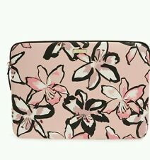 "New KATE SPADE TIGER LILY LAPTOP SLEEVE Case 15"" pink bubbles floral"