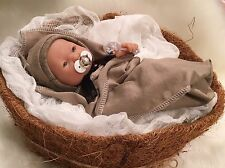 "OOAK 9-10"" BoY DoLL CLOTHES~PaCiFieR~ToY~FoR Micro Preemie Reborn's~Berenguer"
