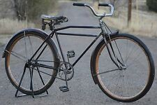 "Vintage Colson Flyer Wood Wheel Motor Bike Antique Prewar Bicycle 28"" Schwinn Ql"