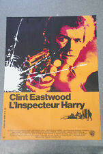 RAREAffiche de cinéma : L'INSPECTEUR HARRY de DON SIEGEL