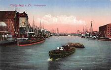 Königsberg Preussen Hafenpartie Dampfer, Boote Postkarte