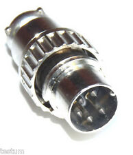 New 5 pin male locking DIN connector, used on metal detectors.