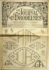 Le Journal des Brodeuses n°837 - 1964 - Ecussons pour bavoir - Nappes -