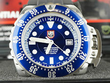 Luminox Deep Dive 1513 Mens Diver Watch Blue Dial Black Rubber Strap Automatic