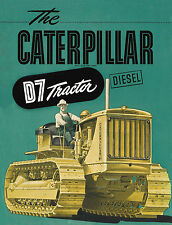 Caterpillar D7 7M Diesel Tractor Sales Book 1942
