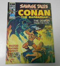 1973 SAVAGE TALES #3 Conan The Barbarian FVF Barry Windsor Smith