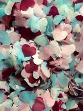 Confettis Biodégradables Bleu Rose Bordeaux Marriage Lancement