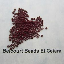25 Grams Medium Dark Red Opaque Size 10/0 Czech Glass Preciosa Seed Beads
