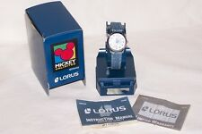 DISNEY Lorus Daisy Duck Wrist Watch Denim Wrist Band NEW Battery