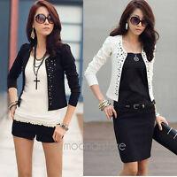 Casual Neu Damen Jacket Jacke Blazer Business Party Freizeitblazer Bolero S-XL