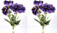 2 x Artificial Purple Lisianthus Flower Bunches