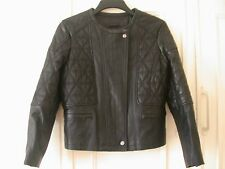 Comptoir des Cotonniers Black leather biker jacket size 14