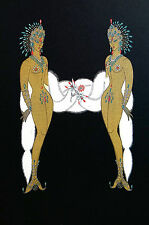 Erte 1982 Alphabet Series H - INDIAN PRINCESS - WHITE FOX Matted Print First Ed.