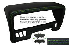 GREEN STITCHING SPEEDO HOOD TRIM LEATHER SKIN COVER FITS NISSAN PATROL Y60