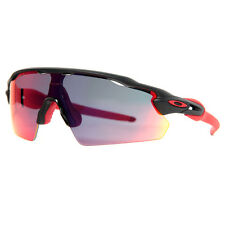 Oakley Radar EV Pitch OO9211-02 Matte Black/Red Iridium Men's Sport Sunglasses