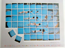 David Hockney Swimming Pool Mini-Poster Reprint  for Oakland Museum Show