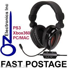 Gaming Headset for PS3 XBox 360 MAC PC game sound & chat 2.1 EXTRA BASS Stereo