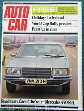 Autocar 4/5/1974 World Cup Rally Road Test: Mercedes 450SEL ISO Lele Spanish GP