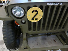 "Willys jeep MB m201 Ford GPW jaune plaque"" 2"" avec support pour radiateur"