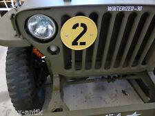 """Willys Jeep MB M201 Ford GPW Gelbe Platte """"2""""  mit Halterung für Kühler"""